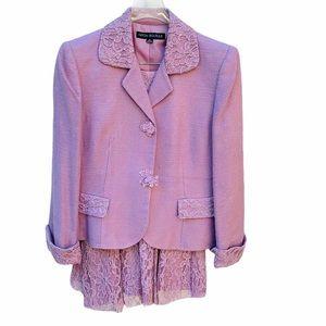 Nipon Boutique Lavender Viscose Lace 2pc Suit Set